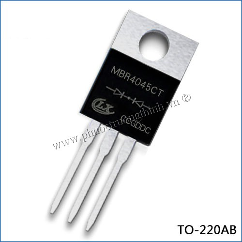 Schottky diode (Rectifier diode) MBR4045CT 40A 45V TO-220AB