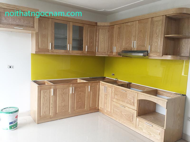 Báo giá tủ bếp gỗ sồi Nga tại Hà Nội