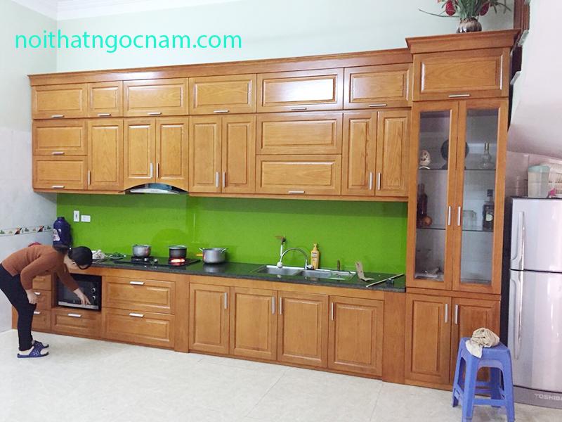 Báo giá tủ bếp gỗ sồi Nga tại Hà Nội 2019