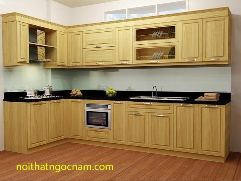 Kết quả hình ảnh cho tủ bếp gỗ dỏi