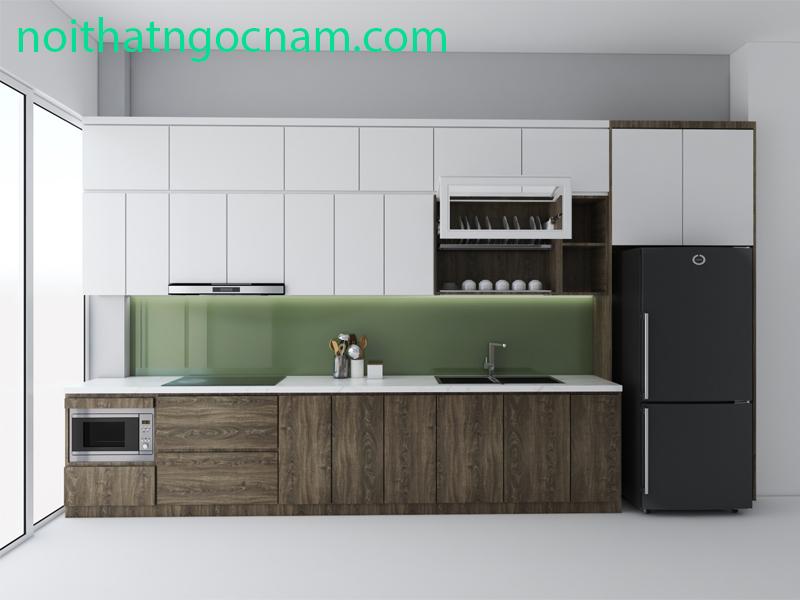 Mẫu tủ bếp Melamine giá rẻ 3