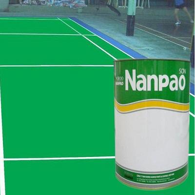 Sơn epoxy Nanpao sân tennis, cầu lông