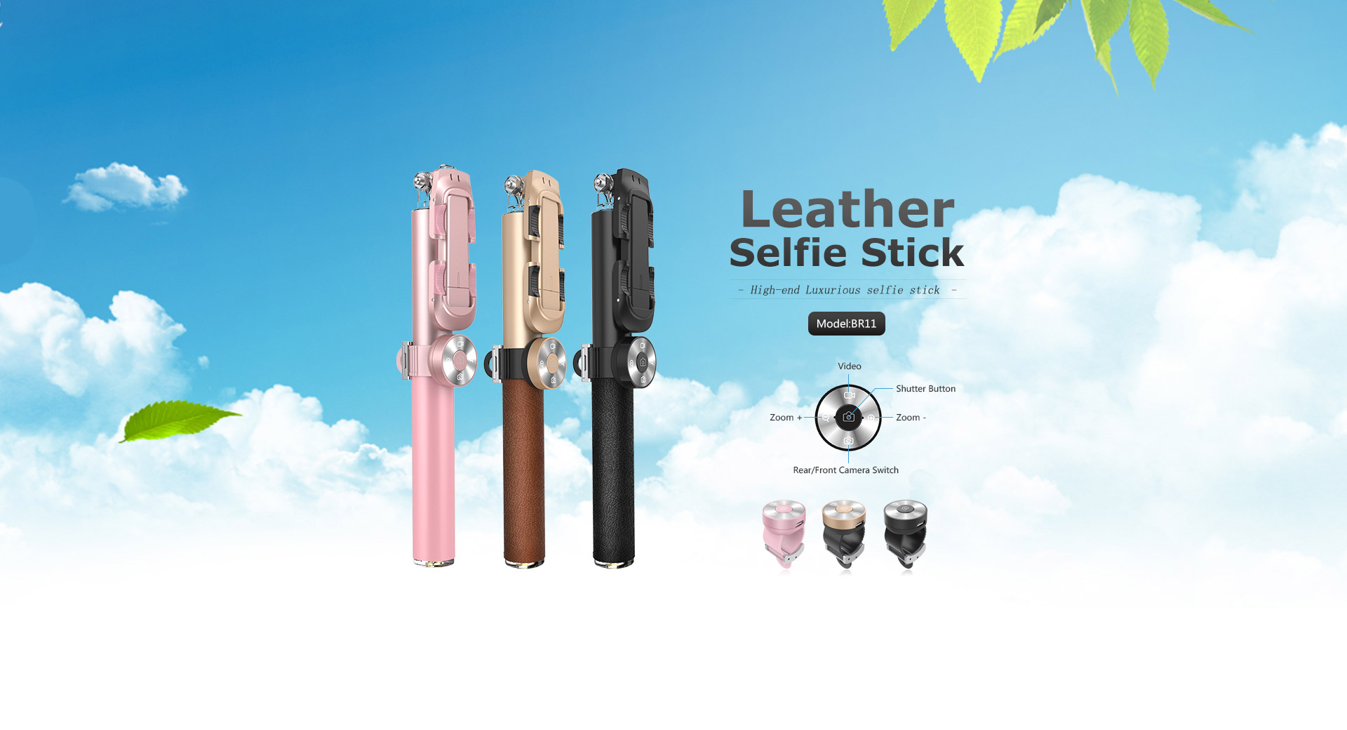 Noosy Leather Selfie Stick