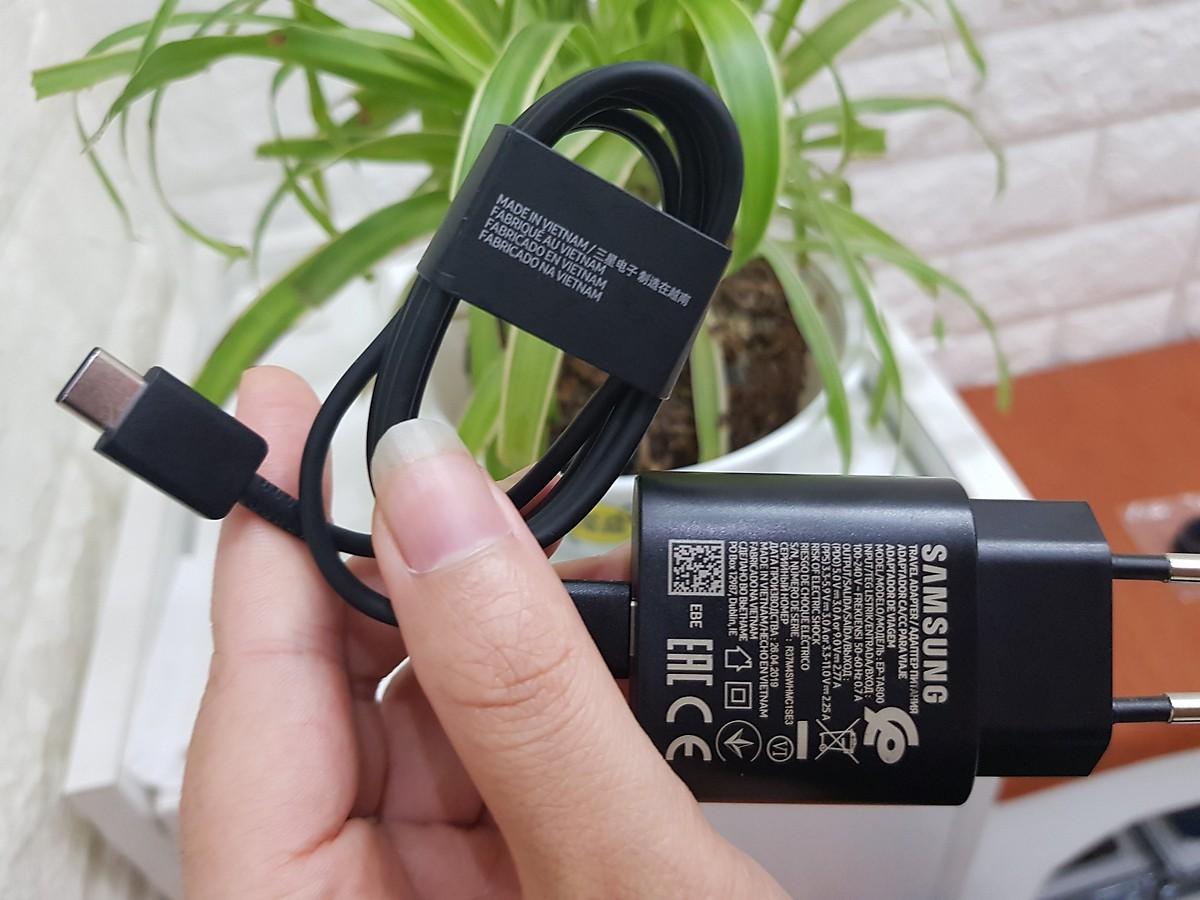 Sạc Nhanh Samsung 25W C-to-C Bản Cho Galaxy S10 5G - Chính Hãng - Đen