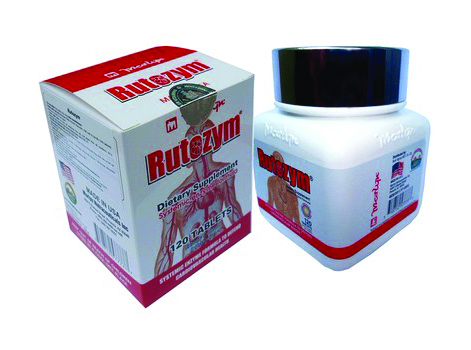 TPCN: Rutozym - Stroke Prevention, Blood Pressure Stabilizer - Bottle 120 tablets