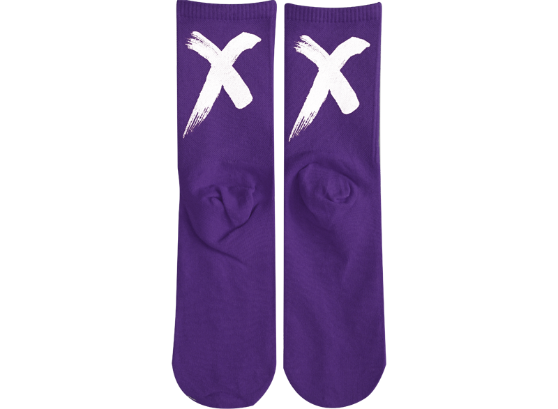 X - Purple White