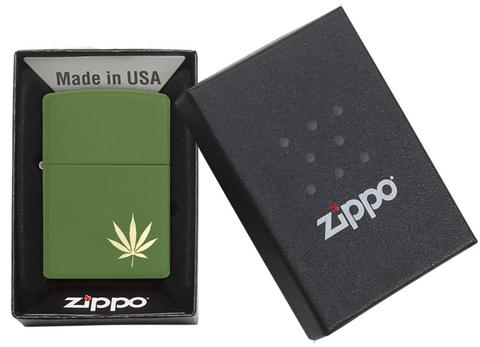 Zippo MarijuanaLeaf on the Side 29588