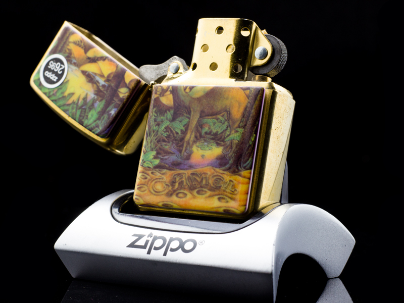 Zippo-la-ma-camel-double-silded-emblem-very-rarely-XLL-1996-qui