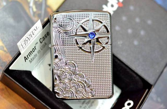 Zippo Armor Luxury Waves High Polish Chrome độc đáo cao cấp