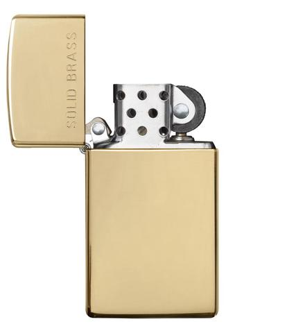 Zippo Polished Brass Engraved Slim độc đáo
