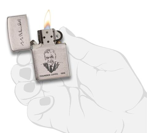 Zippo Founder's Lighter Brushed Chrome ý nghĩa