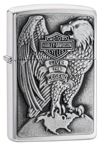 Zippo Made in the USA Eagle and Globe Emblem Brushed Chrome chất lượng cao uy tín