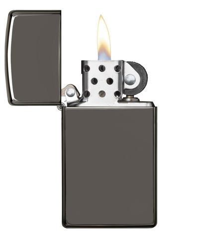 Zippo Black Ice (Dark Chrome) Slimn hàng authenic cao cấp 100%