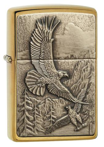 Zippo Where Eagles Dare Brushed Brass độc đáo