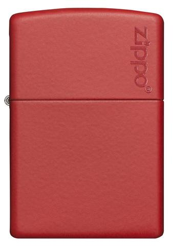 Zippo Red Matte with Logo cao cấp