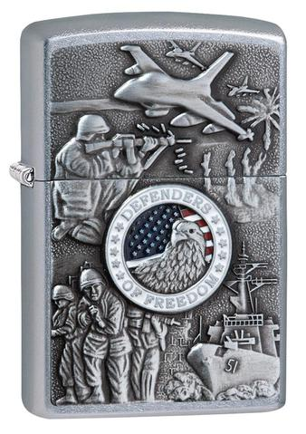 Zippo Joined Forces Emblem Street Chrome zippo chiến tranh