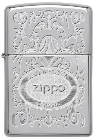 Zippo Gleaming Patina High Polish Chrome