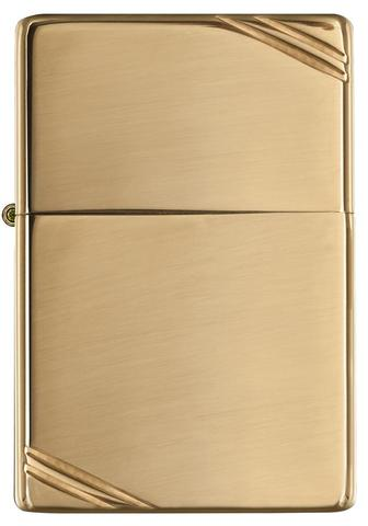 Zippo Vintage High Polished Brass đơn giản