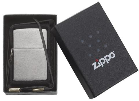 Zippo Lossproof with Loop & Lanyard Brushed Chrome không sợ rớt khi trick zippo nữa