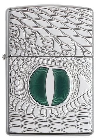 Zippo Armor Dragon Eye Carved High Polish Chrome ane stoke