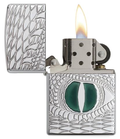 Zippo Armor Dragon Eye Carved High Polish Chrome độc đáo phong thuỷ