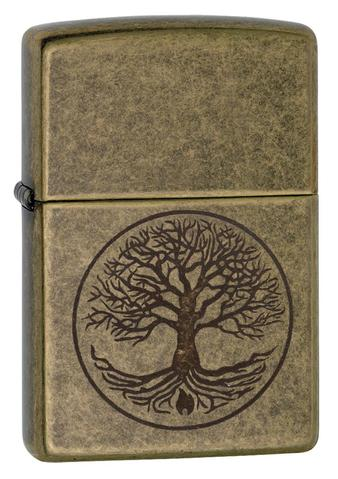 Zippo Tree of Life Antique Brass đồng cổ