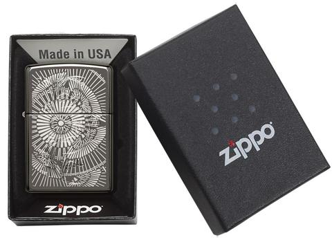 Zippo Asian Floral Black Ice cao cấp