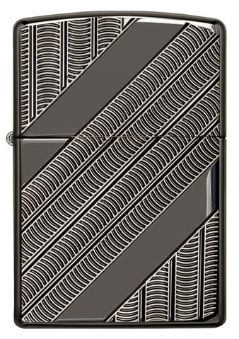 Zippo Armor Coils Deep Carved Black Ice Chrome xách tay