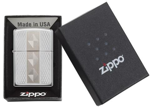 Zippo Diamond Grill High Polish Chrome sưu tầm
