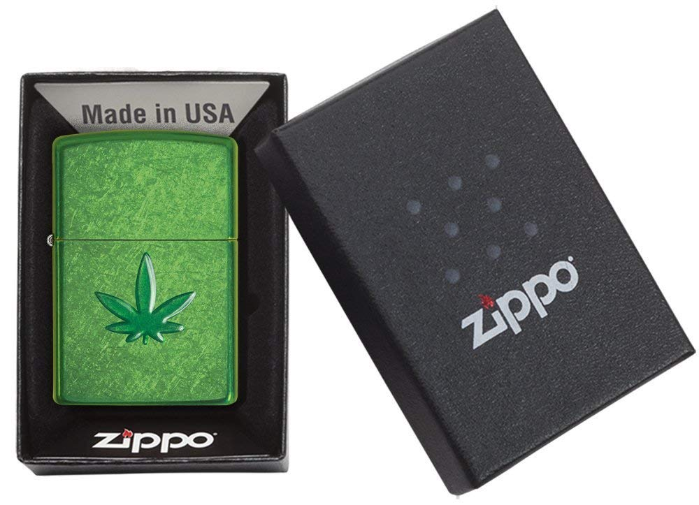 Zippo Leaf Design Pocket Lighters 29662 xách tay