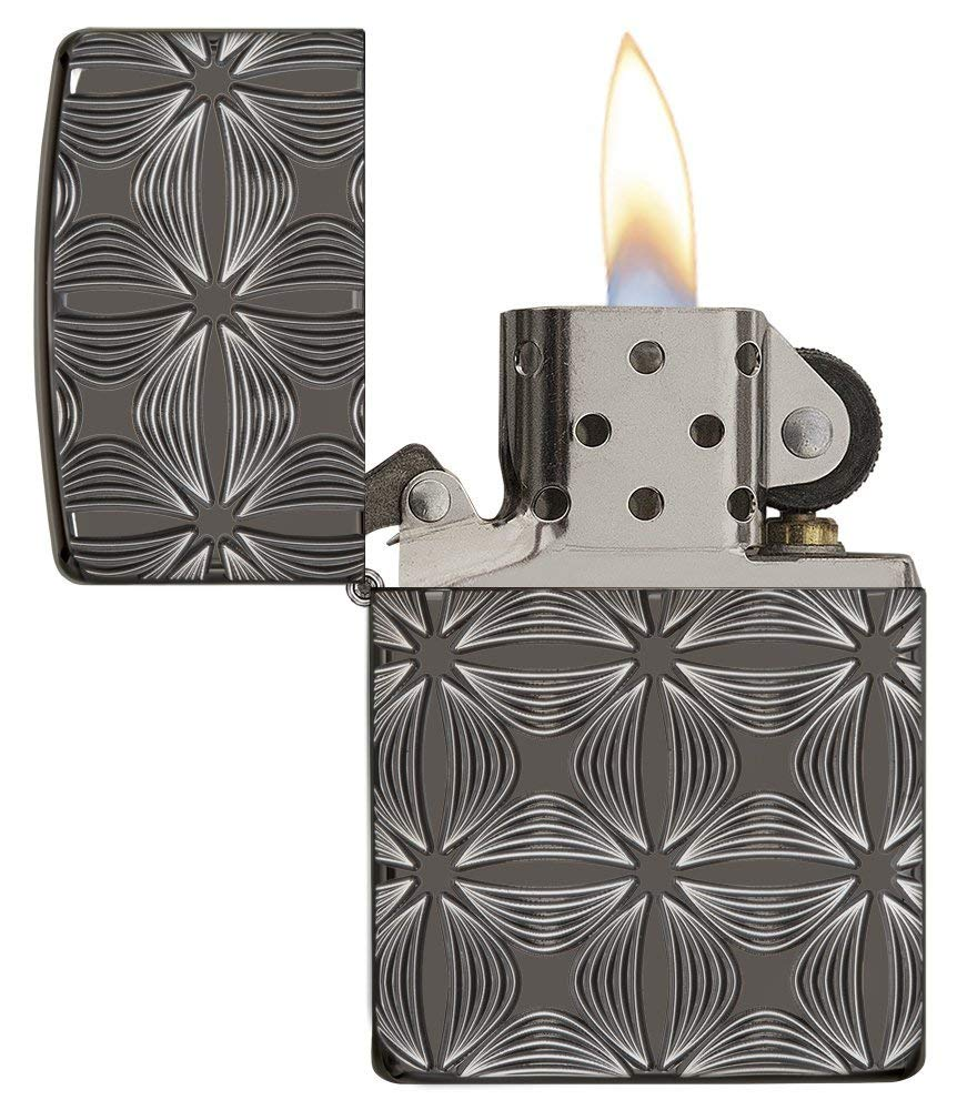 Zippo Armor Deep Carve Lighters 29665 hộp quẹt