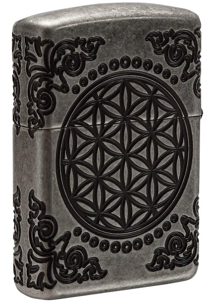 Zippo Armor Tree of Life Design Pocket Lighter 29670 xách tay