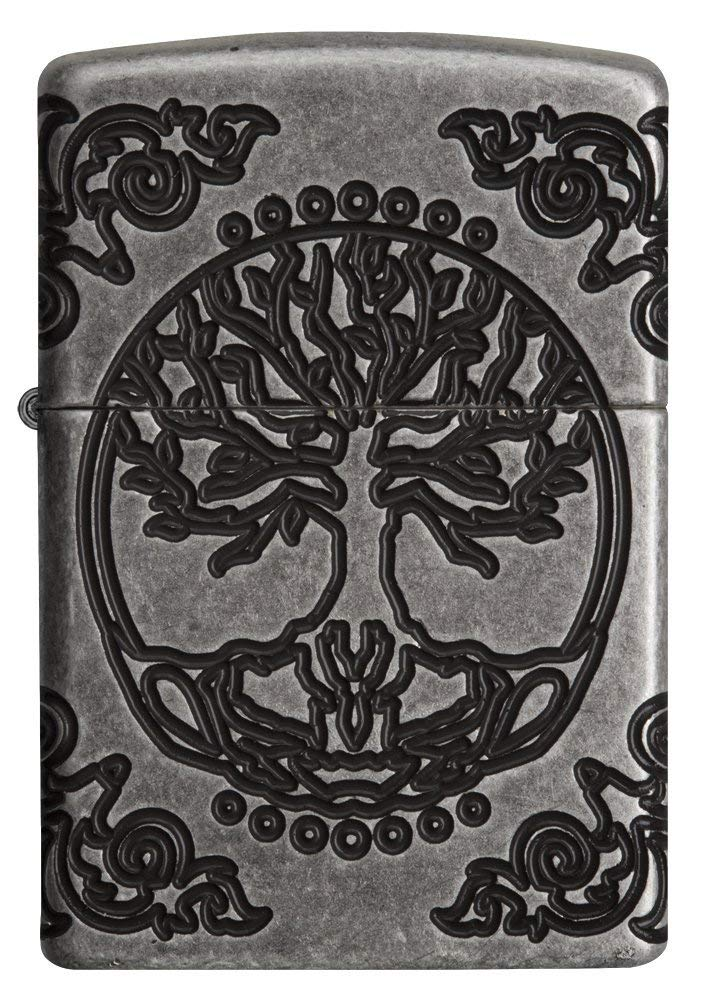 Zippo Armor Tree of Life Design Pocket Lighter 29670 cao cấp