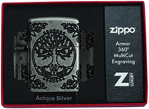 Zippo Armor Tree of Life Design Pocket Lighter 29670 catalog 2018