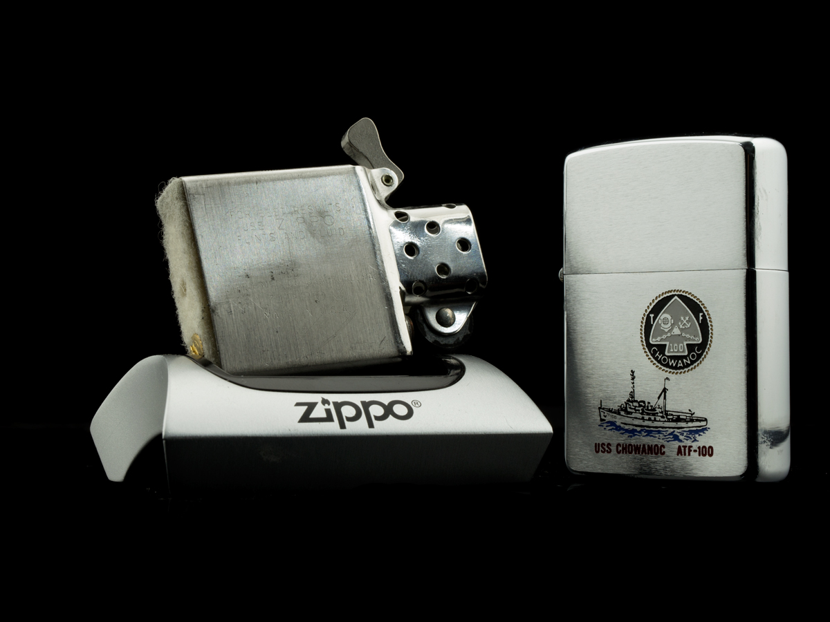 bat-lua-zippo-1973-tau-chien-uss-chowanoc-atf-100-hang-chuan-authentic