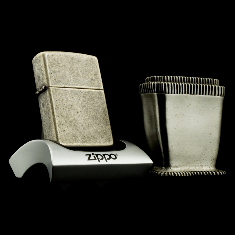 may-lua-zippo-1999-antique-silver-stand-set-de-ban-gia-co-bac