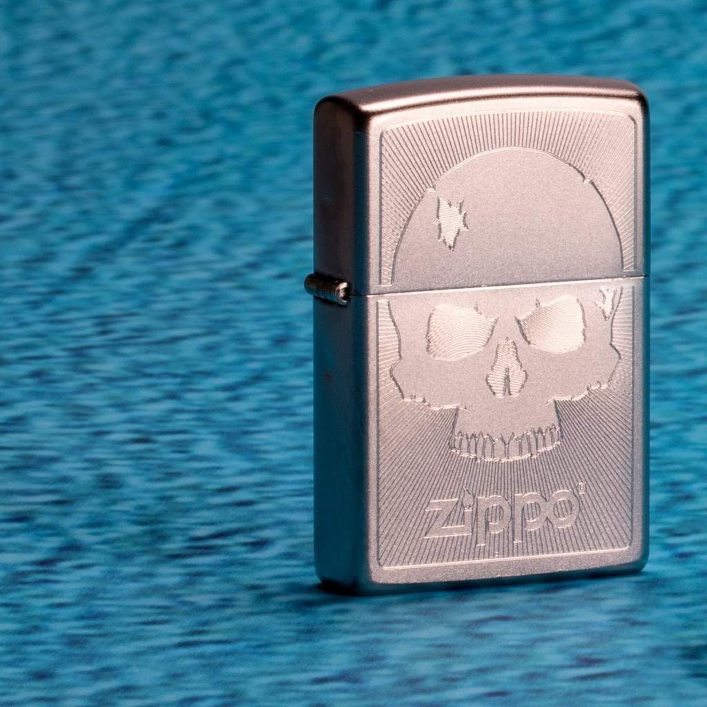Zippo Skull With Lines 29858