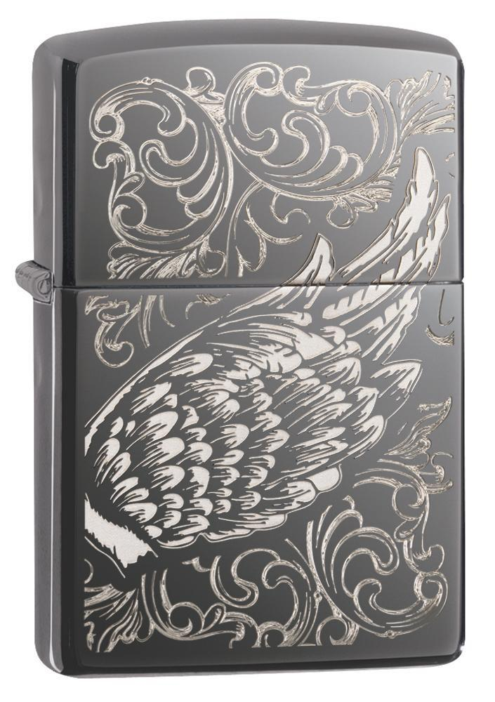 Zippo Filigree Flame and Wing Design 29881