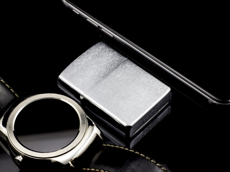 Zippo-co-7-gach-brushed-chrome-1983-co