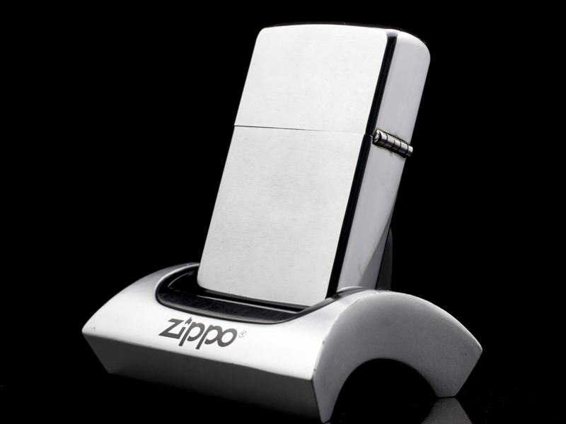 Zippo Cổ Brushed Chrome 1971 3 Gạch Thẳng-y-nghia