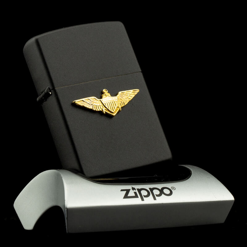 bat-lua-zippo-u-s-air-force-office-emblem-black-matte-1991-vii-huy-hieu-si-quan-khong-quan-hoa-ky