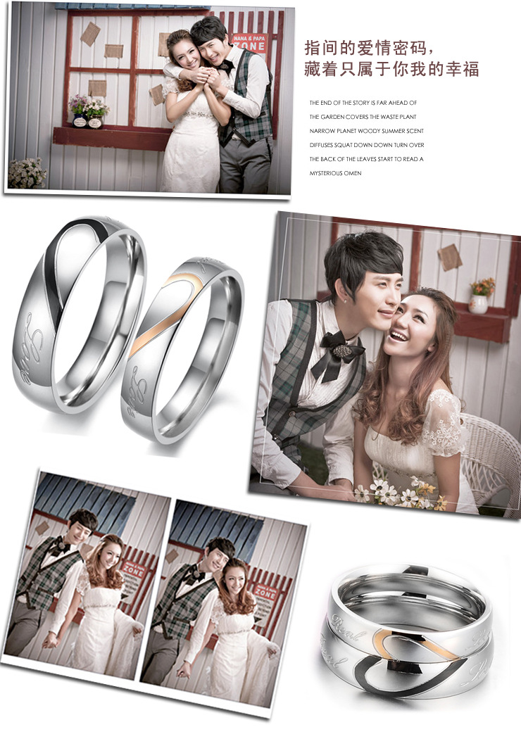 Trang sức bạc nhẫn đôi cao cấp dành cho tình yêu