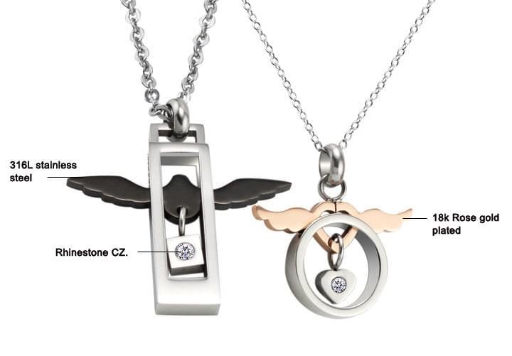 Mẫu trang sức thiên sứ đôi cho cặp tình nhân
