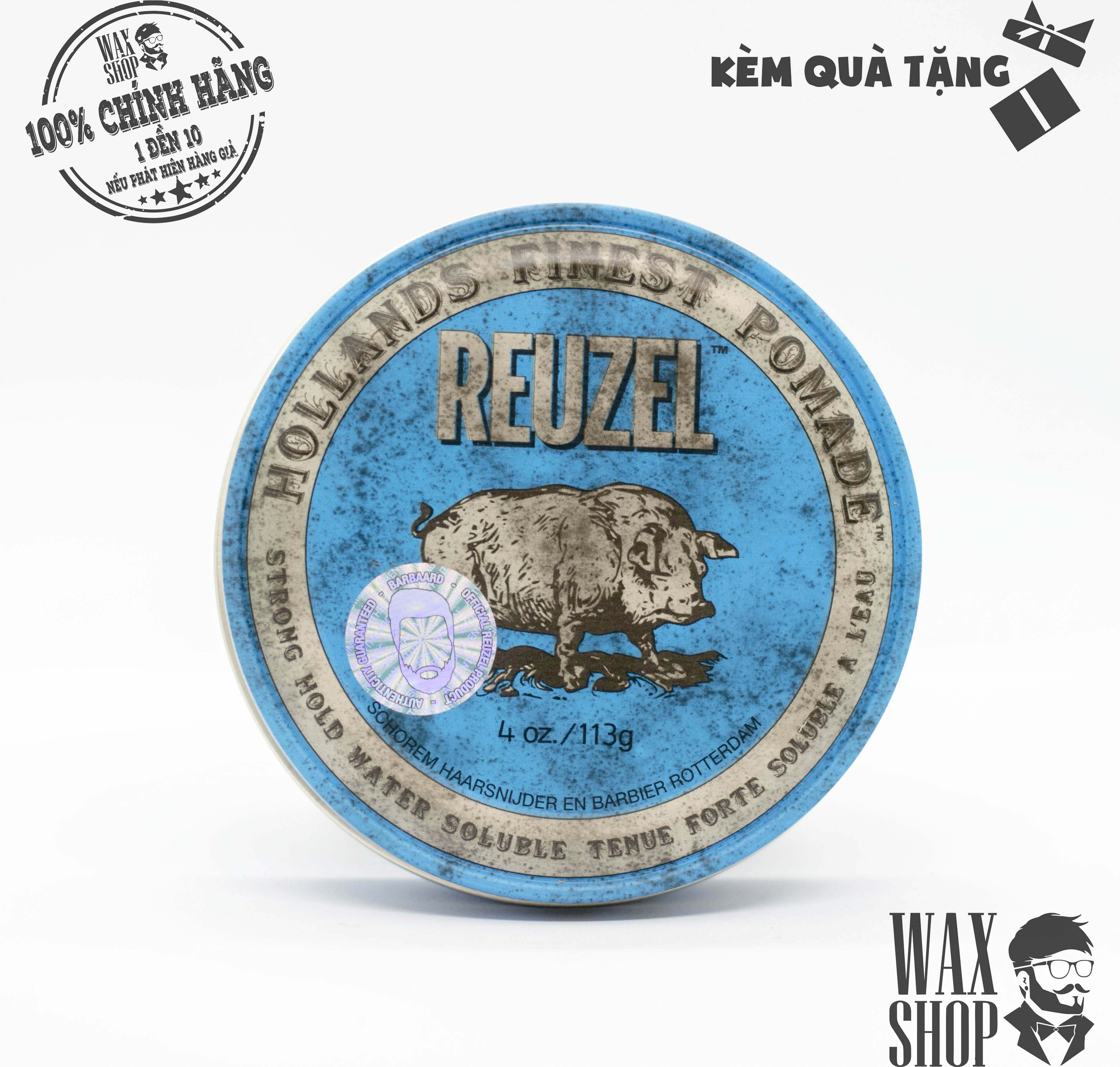 Reuzel Blue Strong Hold Water Soluble High Sheen - Reuzel