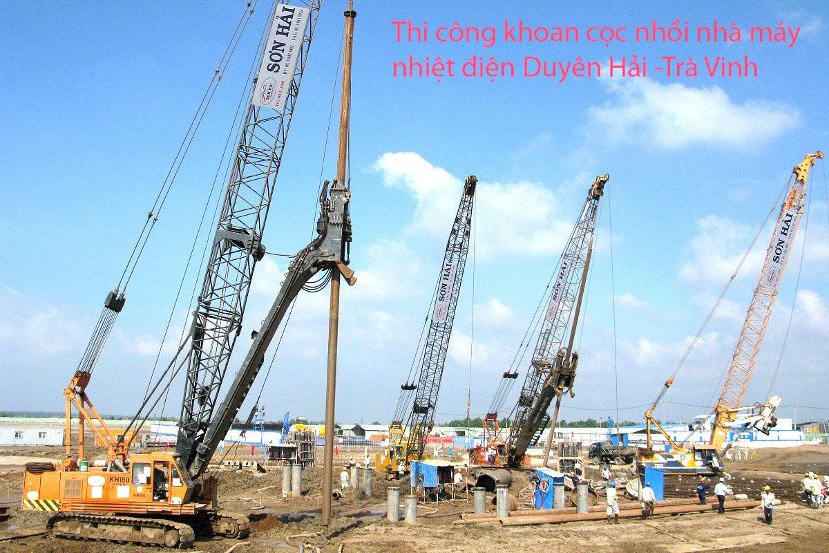 Khoan cọc nhồi dự án nhà máy nhiệt điện Duyên Hải tỉnh Trà Vinh