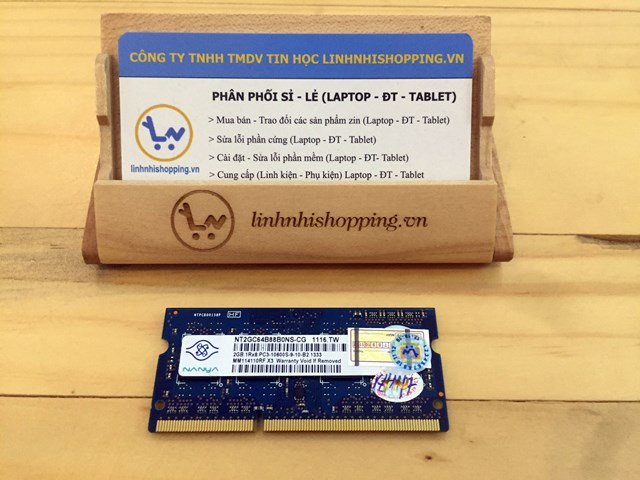 Ram DDR3 laptop 2gb NANYA (12 tháng bảo hành)
