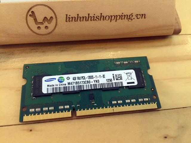 Ram DDR3L laptop 4gb SAMSUNG (12 tháng bảo hành)