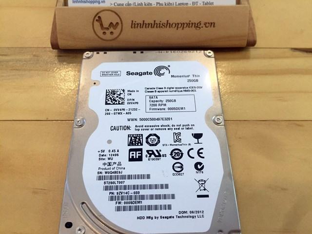 HDD Slim Seagate Momentus Thin 250 GB (12 tháng bảo hành)