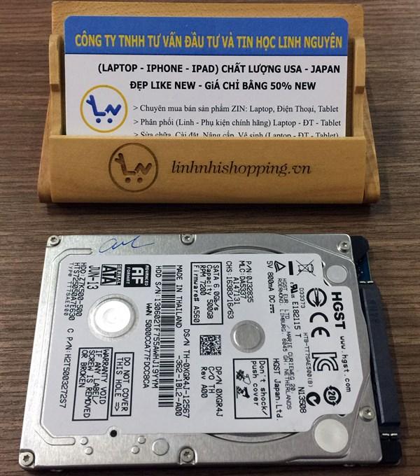 HDD Slim HGST 500GB Sata 3 7200prm (12 tháng bảo hành)
