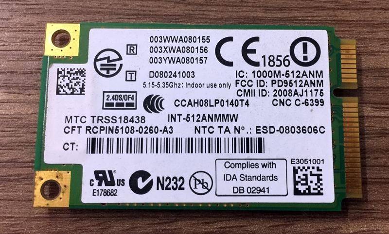 Card wifi 512AN_HMW zin bóc máy Asus U80V, U80 U80A